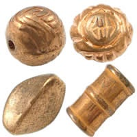 Металлические бусины под золото