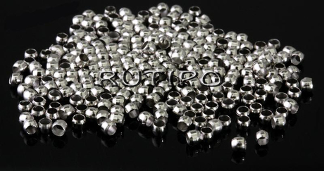 Стопер круглий під срібло, 2 мм, 2 гр