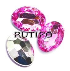 Акриловый кристалл Deep Pink, 14*10*5мм, шт