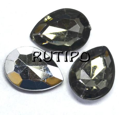 Акриловый кристалл Grey, 18*13*5мм, шт
