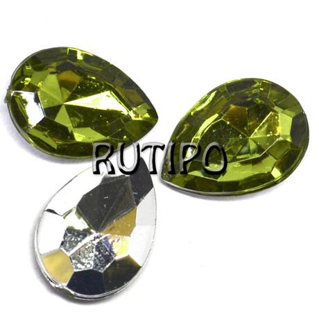 Акриловый кристалл Olive, 18*13*5мм, шт