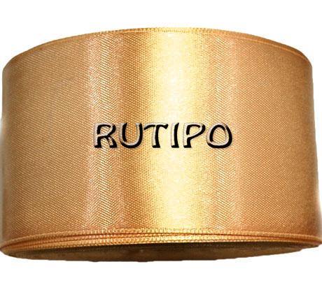 8377 Стрічка атласна золотисто-коричнева, 5см * 32,5м (бобіна)
