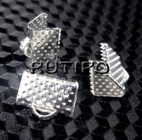 Зажим для ленты под серебро 10*7мм, шт