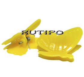 Заколка Бабочка желтая, 24*20*17мм, шт