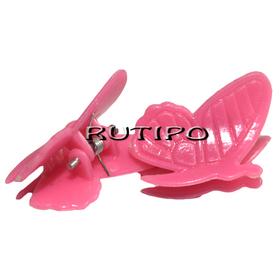 Заколка Бабочка розовая, 24*20*17мм, шт