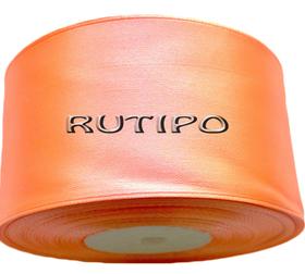 8025 Стрічка атласна помаранчевий персик, 5см * 32,5м (бобіна)