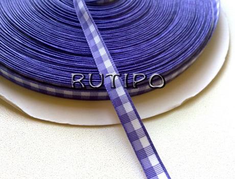 Стрічка в клітку фіолетова, 7мм * 1м