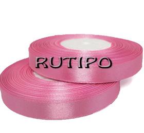 8039 Стрічка атласна рожева, 1см * 32.5м (бобіна)