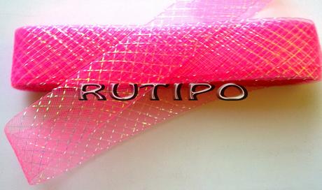 Регилин ярко-розовый с люрексом, 45мм*1м