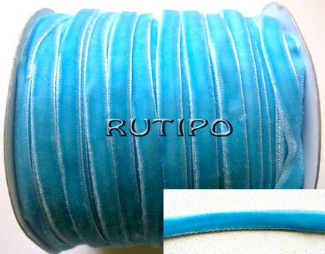 Тесьма велюровая голубая, 0,8см*1м