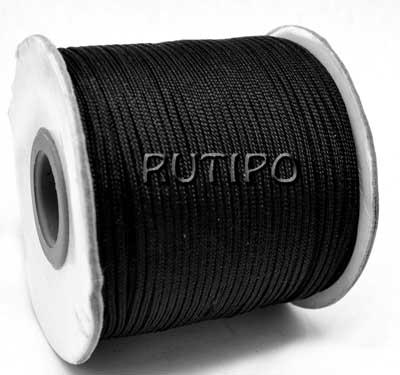 Нейлоновий шнур чорний, 1.5мм * 1м