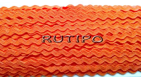 Тесьма вьюнок оранжевый, 4мм*1м