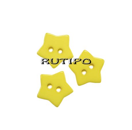 """Ґудзик """"Зірочка жовта"""", 15мм, 1шт"""