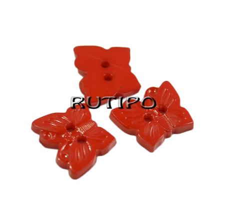"""Ґудзик """"Метелик червоний"""", 16 * 13мм, 1шт"""