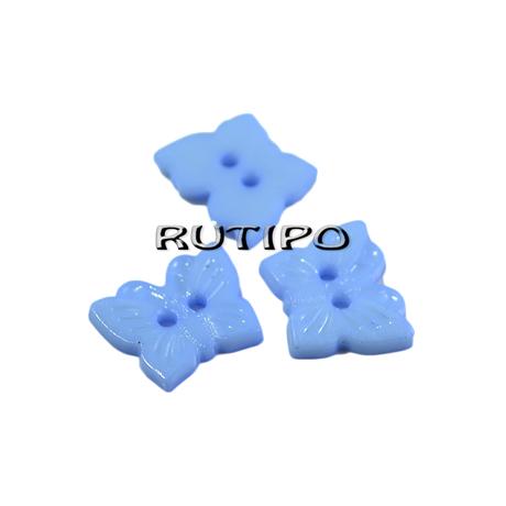"""Ґудзик """"Метелик блакитний"""", 16*13мм, 1шт"""