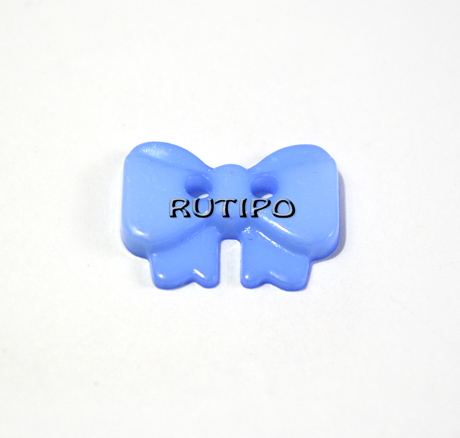 "Ґудзик ""Бантик голубой"", 14 * 10 * 2 мм, 1шт"