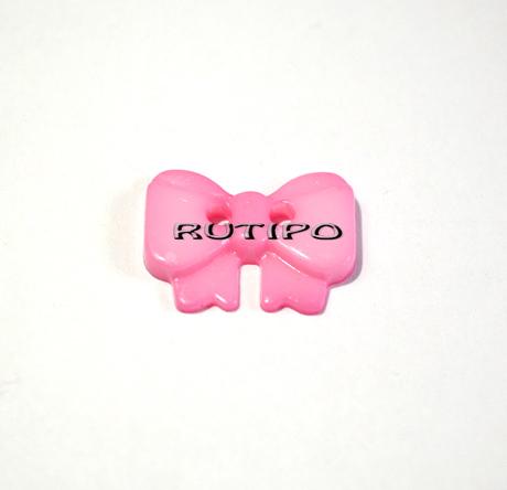 """Ґудзик """"Бантик рожевий"""", 18 * 13 * 2.5мм, 1шт"""