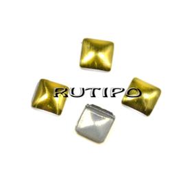 Металлические стразы HotFix под золото 3мм, шт