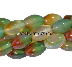 Бусина Халцедон оливка, 12*8мм, шт