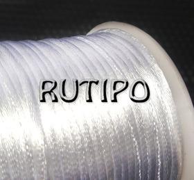 Атласный нейлоновый шнур белый, 2.5мм*1м