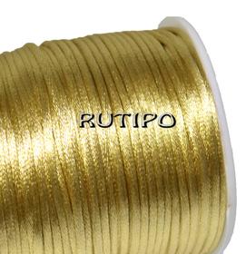 Атласный нейлоновый шнур золотисто-бежевый, 2.5мм*1м