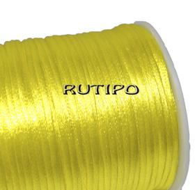 Атласный нейлоновый шнур желтый, 2.5мм*1м