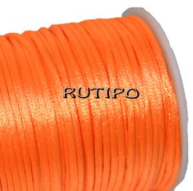 Атласный нейлоновый шнур оранжевый, 2.5мм*1м