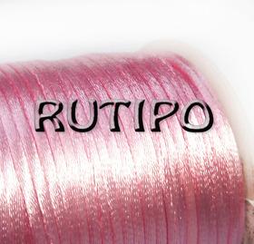 Атласный нейлоновый шнур светло-розовый, 2.5мм*1м