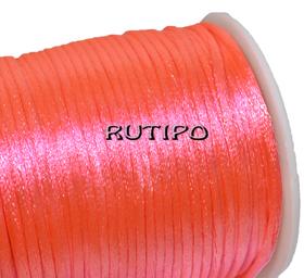 Атласный нейлоновый шнур ярко-розовый, 2.5мм*1м