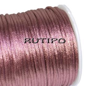 Шнур-сатин пепельно-розовый, 3мм*1м