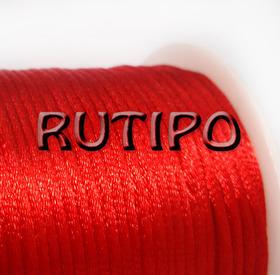 Атласный нейлоновый шнур красный, 2.5мм*1м