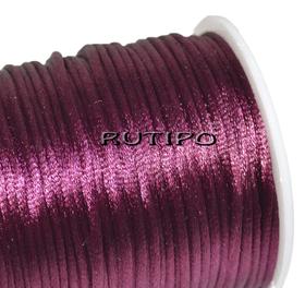 Атласный нейлоновый шнур бордовый, 2.5мм*1м