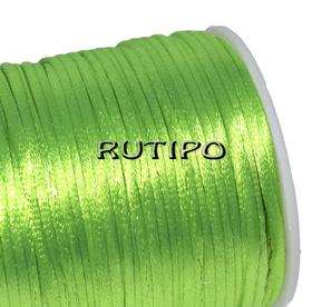 Атласный нейлоновый шнур салатовый, 2.5мм*1м