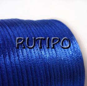 Атласный нейлоновый шнур синий, 2.5мм*1м