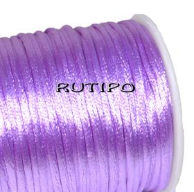 Атласный нейлоновый шнур сиреневый, 2.5мм*1м