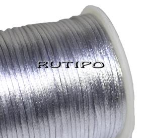 Атласный нейлоновый шнур серебристо-серый, 2.5мм*1м