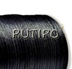 Атласный нейлоновый шнур черный, 2.5мм*1м
