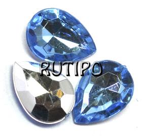 Акриловый кристалл Skyblue, 18*13*5мм, шт