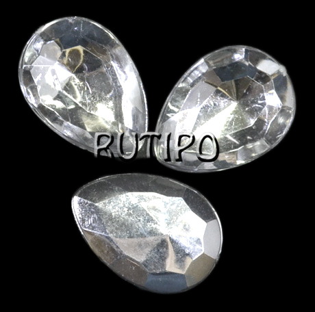 Акриловий кристал White, 18 * 13 * 5мм, шт