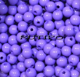 Бусина акриловая, Фиолетовая 6мм, шт