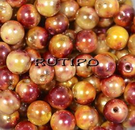 Бусина Berry оранжево-бордовая 8мм, шт