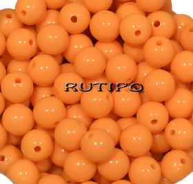 Бусина акриловая, Оранжевая 8мм, шт