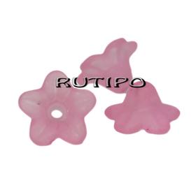 Цветочек розовый 10*5мм, шт