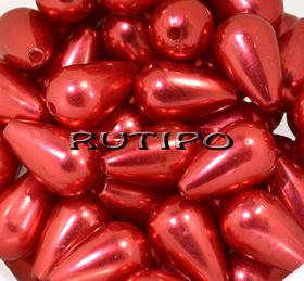 Намистина крапля Червона, 16*10мм, шт