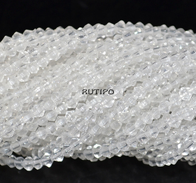 Strand Bicone Clear 3*2.5mm, 36cm (about 160pcs)