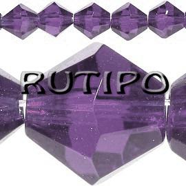 Биконус хрустальный Purple, 4мм,шт