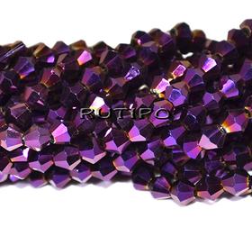 Біконуси Purple, 4мм, низька 37см (бл. 100шт)