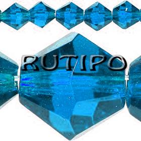 Биконус хрустальный DeepSkyBlue, 4мм, шт