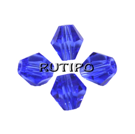 Биконус хрустальный RoyalBlue, 4*4мм, шт