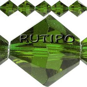 Биконус хрустальный Green, 4мм, шт